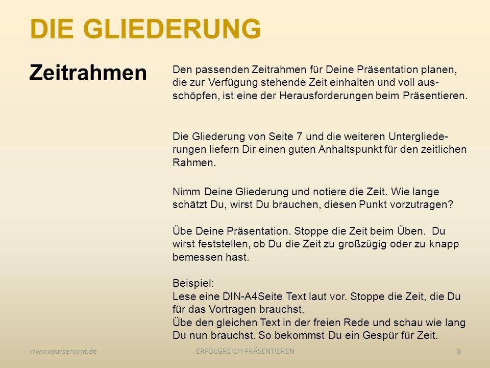 EINFACH ERFOLGREICH PRÄSENTIEREN. Inhalt: Dein Nutzen / Die ...