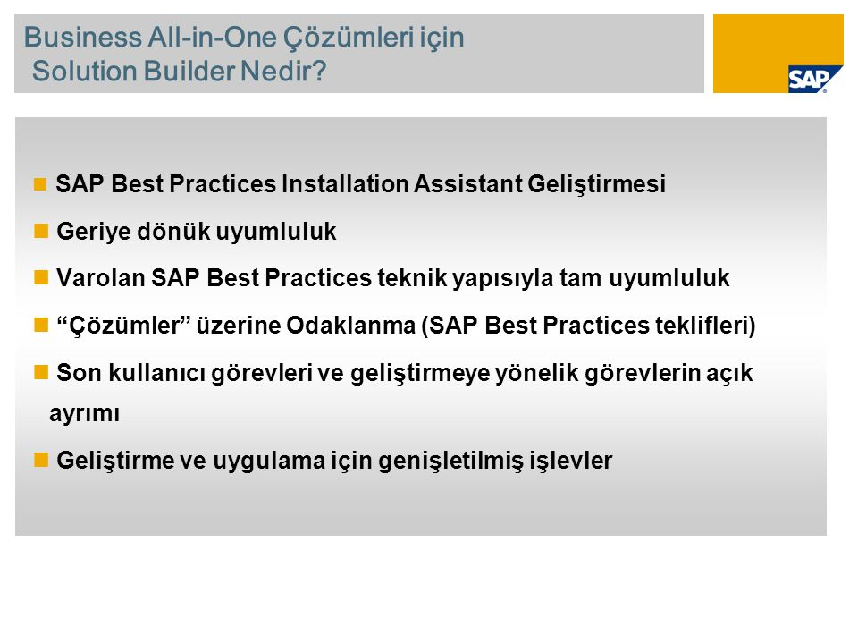 Business All-in-One Çözümleri için Solution Builder Nedir.
