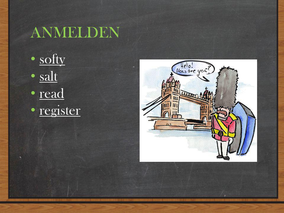 ANMELDEN softy salt read register