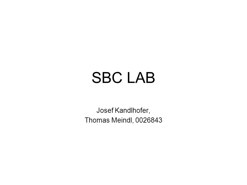 SBC LAB Josef Kandlhofer, Thomas Meindl, 0026843
