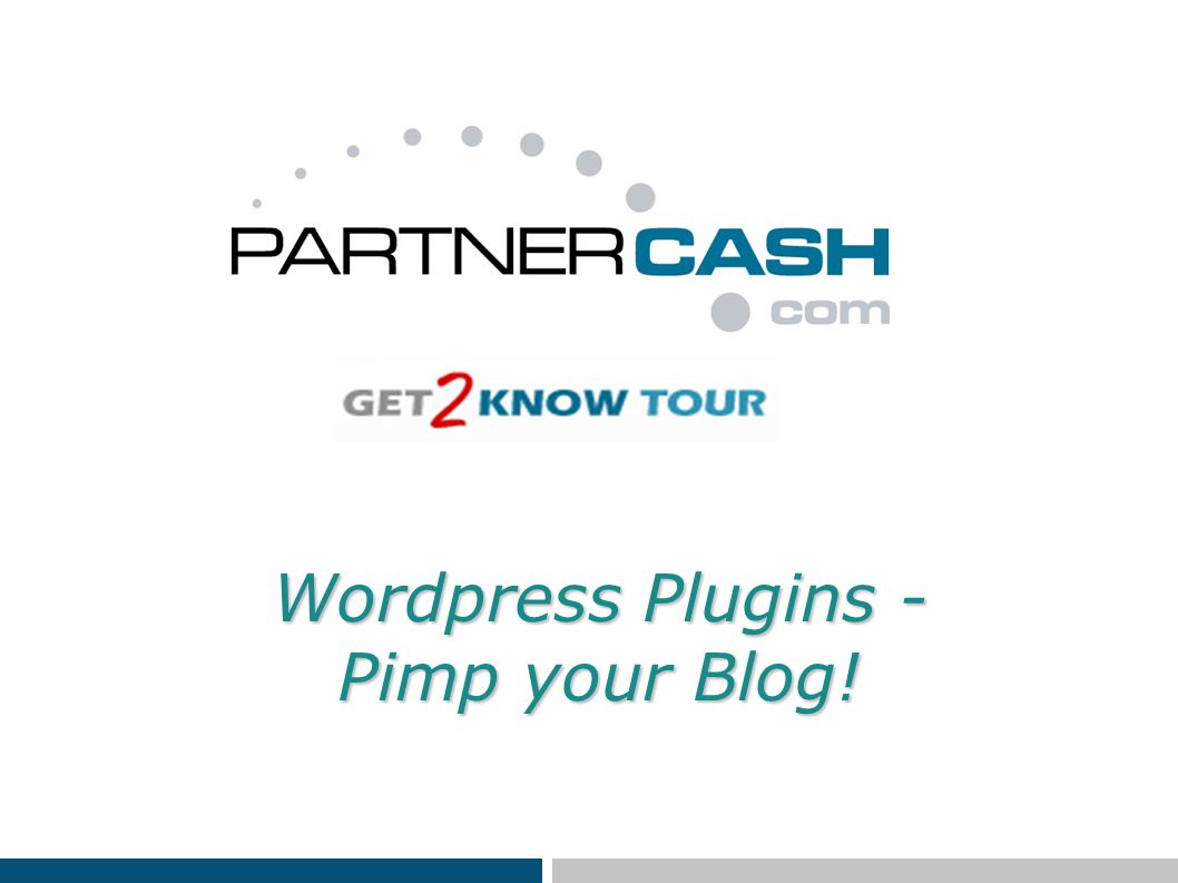 Wordpress Plugins - Pimp your Blog!