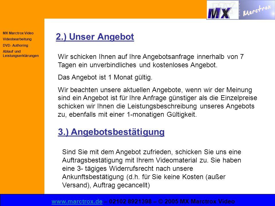 Mx Marctrox Video Videobearbeitung Dvd Authoring Ablauf Und